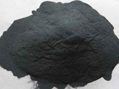 Black corundum powder